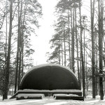 """Старая летняя эстрада в """"ногинском"""" парке, 70-е годы ХХ века"""
