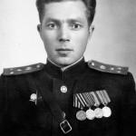 Иван Алексеевич Цыганков, до 1985 года - директор Вичугской типографии, фото 1945 года